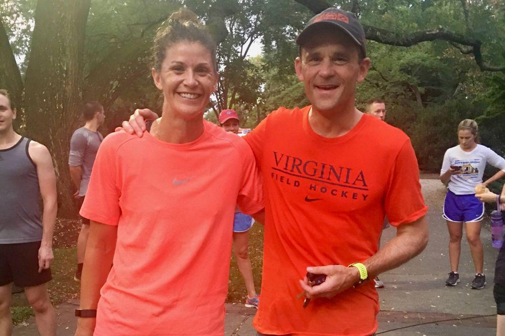 Rachel Dawson and President Jim Ryan